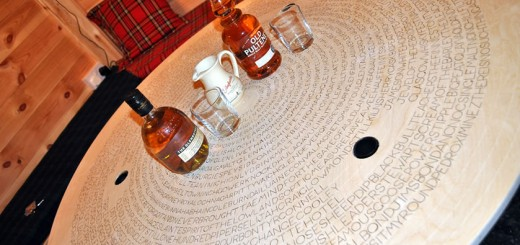 Whisky Tasting Table Top